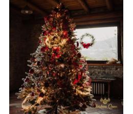 Allestimento Albero Natale Rosso Elegante